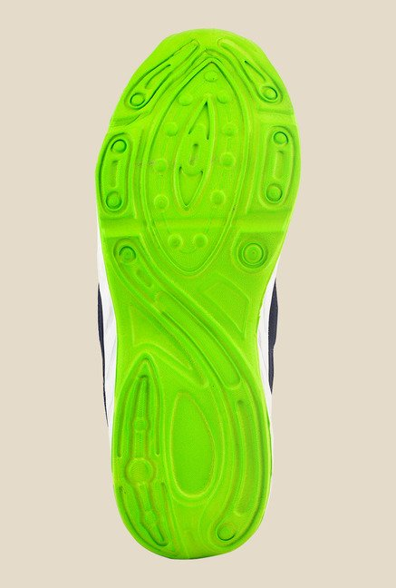 Provogue Navy & Green Running Shoes