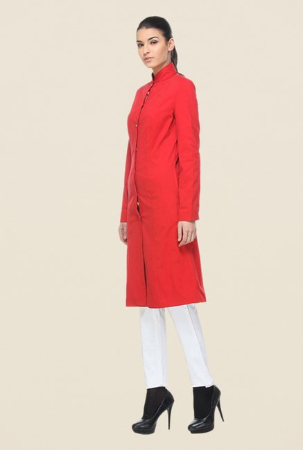 Kaaryah Red Solid Coat