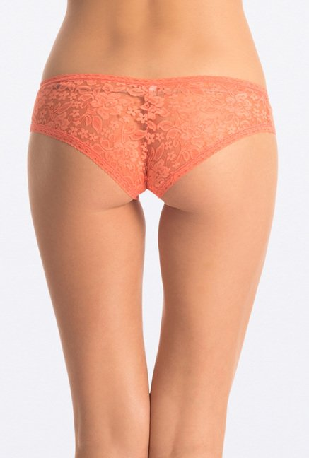 PrettySecrets Coral & Green Lacy Hipster (Pack of 2)
