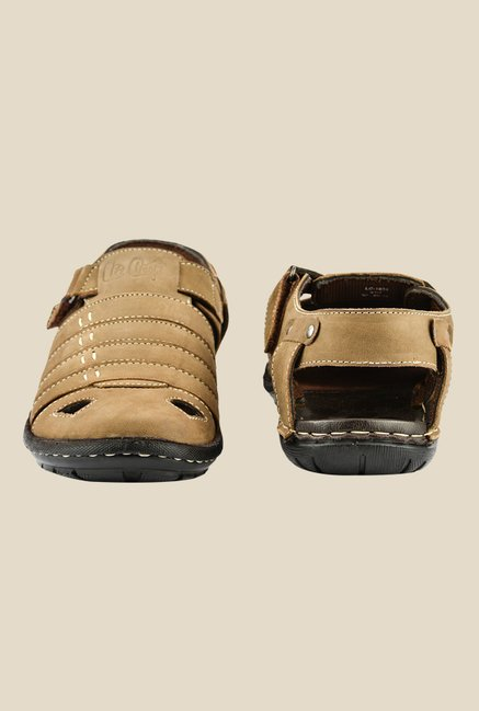 Lee Cooper Camel Fisherman Sandals