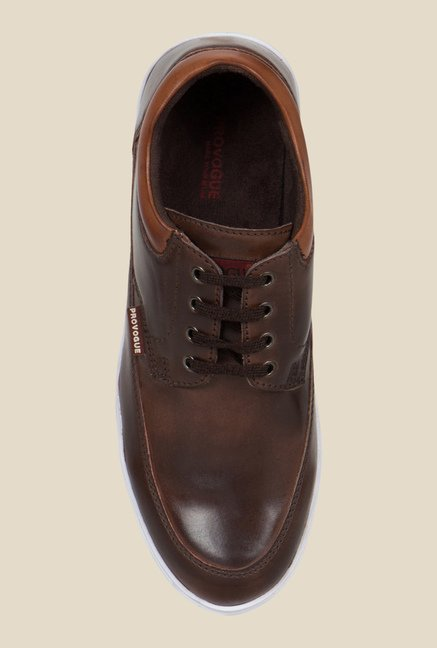 Provogue Brown & White Plimsolls