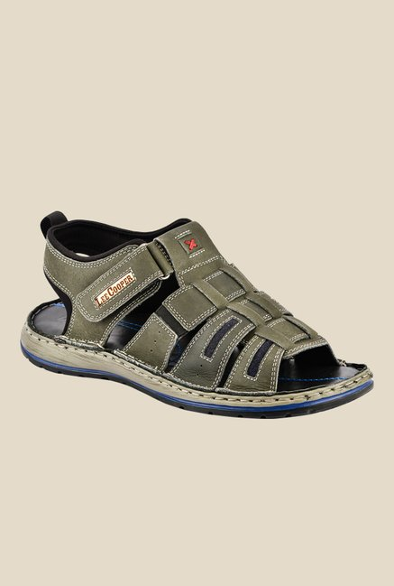 Lee Cooper Olive Fisherman Sandals