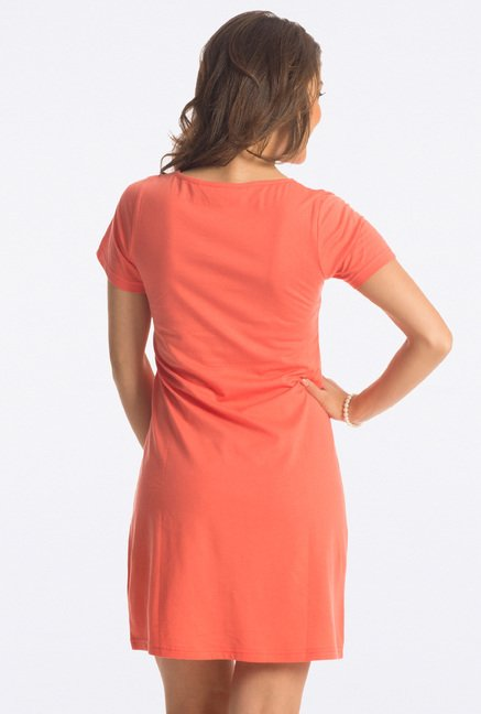 PrettySecrets Sunset Orange Graphic Print Sleepshirt