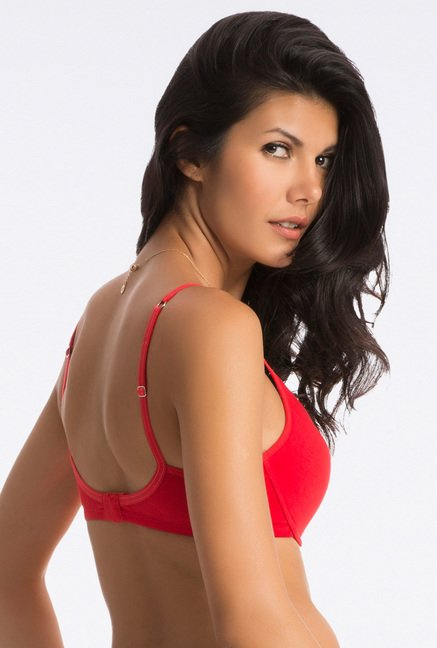 PrettySecrets Bombshell Red Comfy-Fit T-Shirt Bra