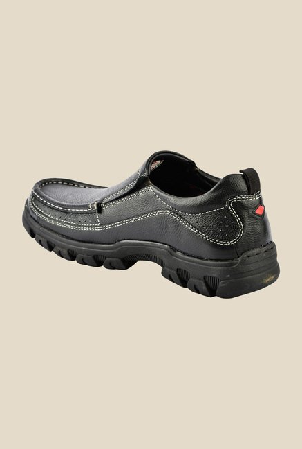 Lee Cooper Black Casual Slip-Ons