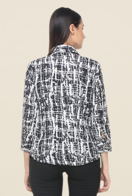 Kaaryah Black Printed Shirt