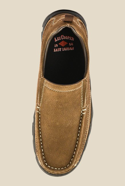 Lee Cooper Brown Casual Slip-Ons