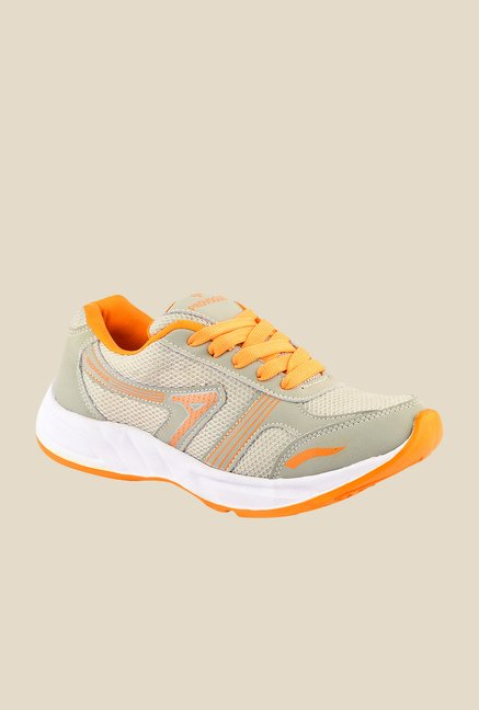 Provogue Grey & Orange Running Shoes
