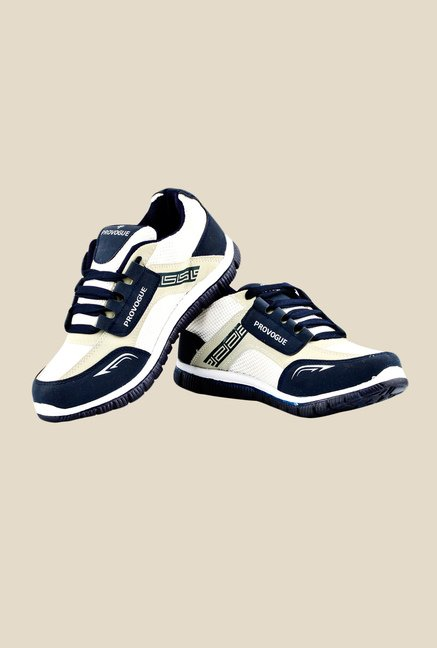 Provogue White & Navy Running Shoes