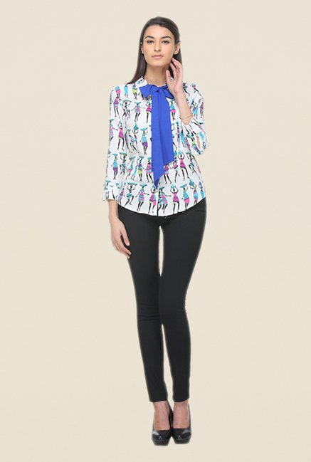 Kaaryah White Printed Shirt