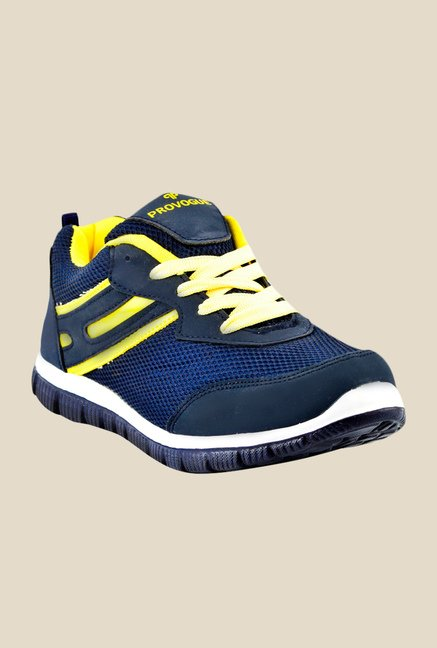 Provogue Navy & Yellow Running Shoes