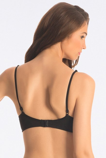 PrettySecrets Flattering Black Snug Fit Wireless Bra