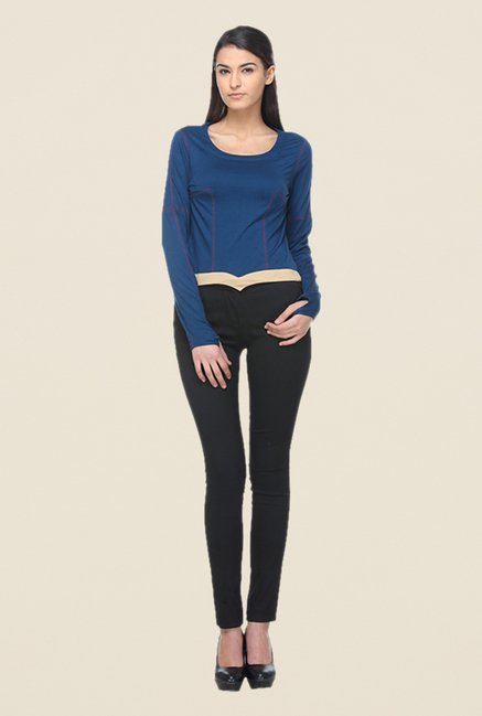 Kaaryah Blue Solid Top