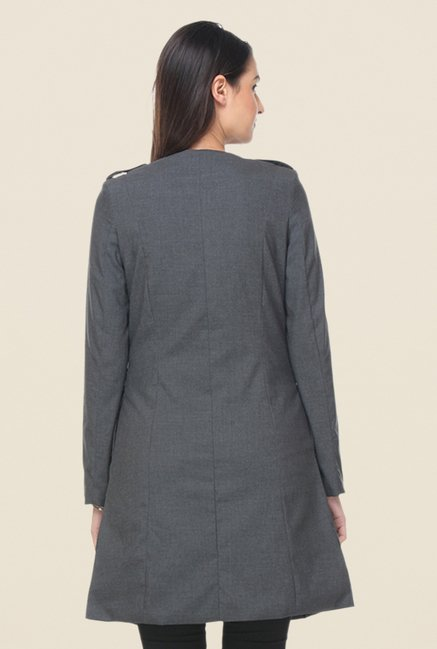 Kaaryah Grey Solid Coat