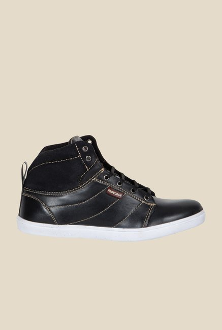 Provogue Black Ankle High Sneakers