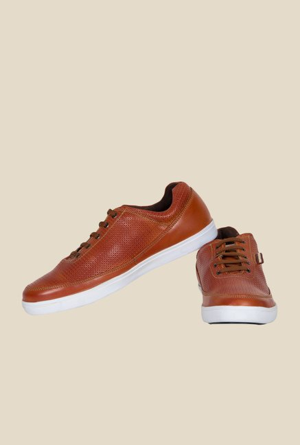 Provogue Tan & White Plimsolls