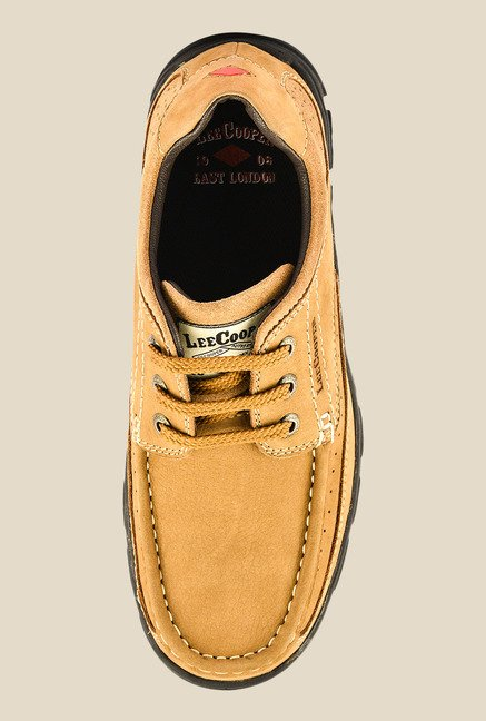 Lee Cooper Camel Derby Shoes