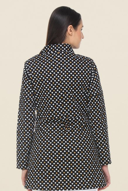 Kaaryah Black Printed Coat