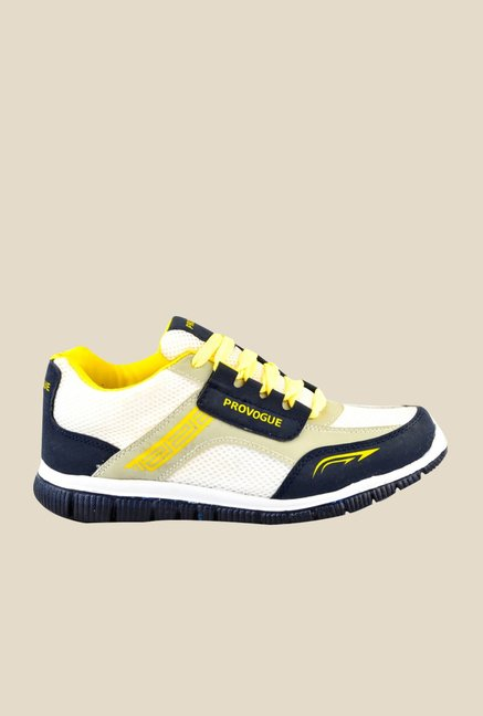 Provogue White & Yellow Running Shoes