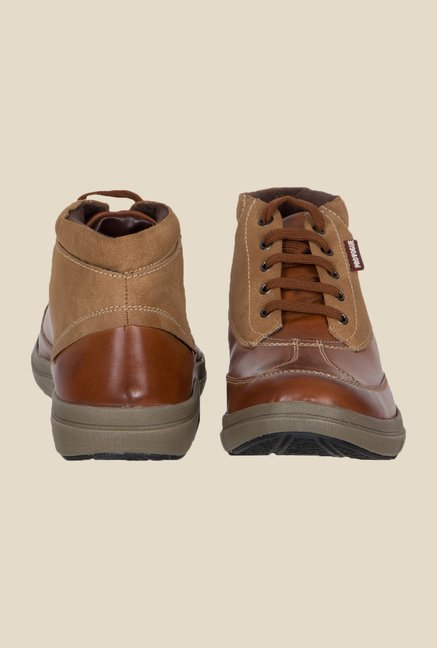 Provogue Tan & Brown Biker Boots