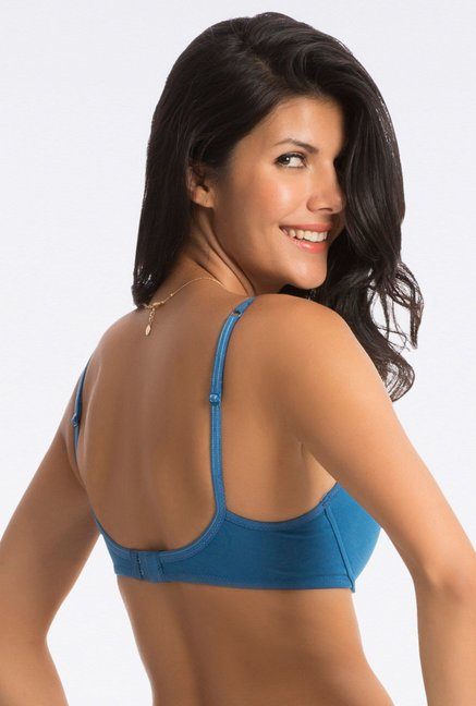 PrettySecrets Dark Blue Comfy-Fit T-Shirt Bra