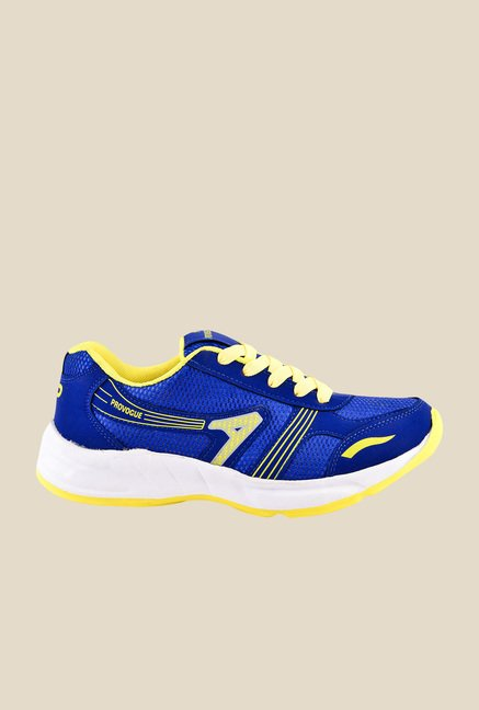 Provogue Blue & Yellow Running Shoes