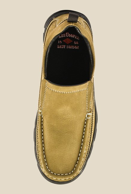 Lee Cooper Olive Casual Slip-Ons
