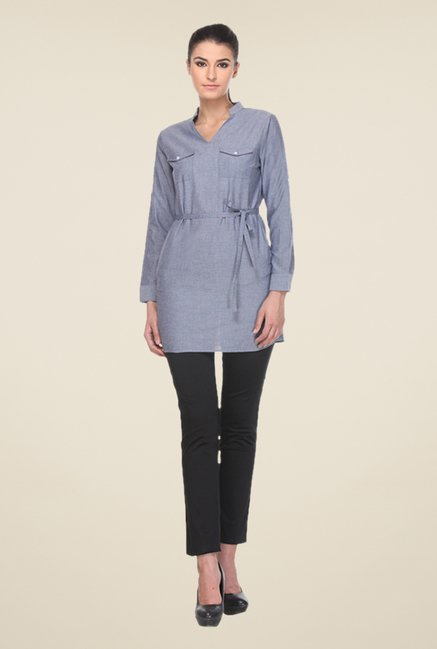 Kaaryah Blue Solid Tunic