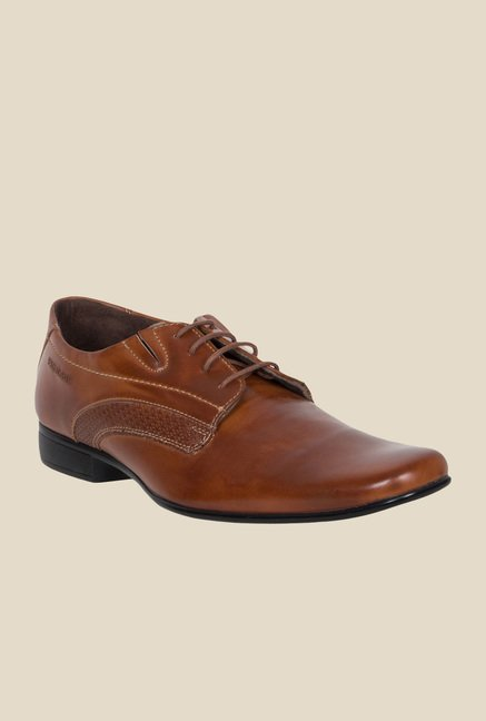 Provogue Tan Derby Shoes