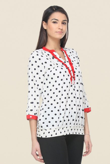 Kaaryah White Printed Top