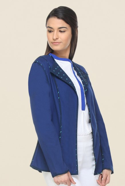 Kaaryah Blue Printed Jacket