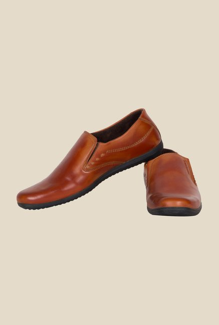 Provogue Tan Formal Slip-Ons