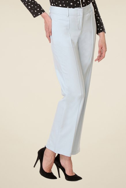 Kaaryah Light Blue Relaxed Fit Trousers