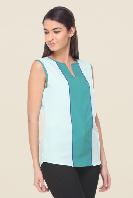 Kaaryah Sea Green & Teal Top