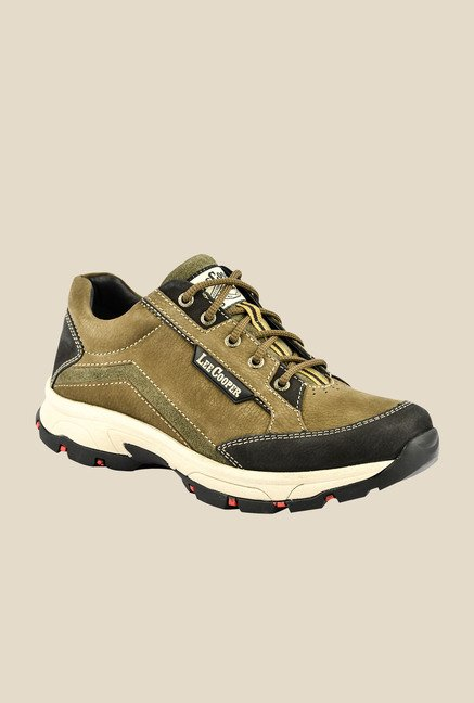 Lee Cooper Olive & Black Casual Shoes