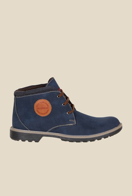 Provogue Navy Biker Boots