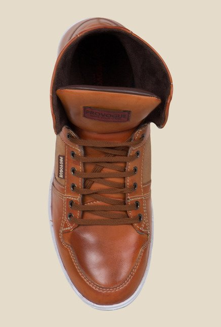 Provogue Tan Ankle High Sneakers