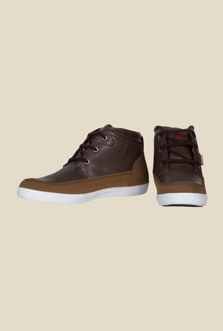 Provogue Brown Ankle High Sneakers