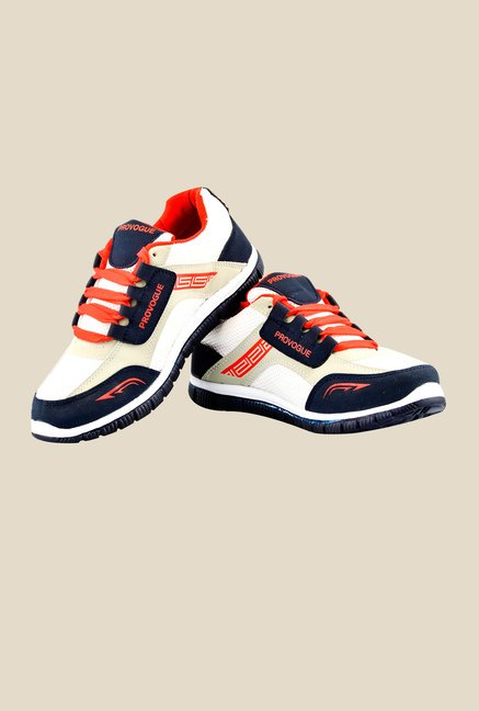 Provogue White & Red Running Shoes
