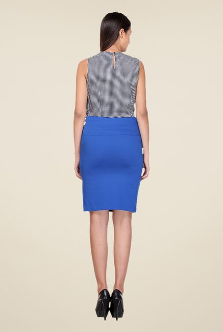 Kaaryah Blue Pencil Skirt