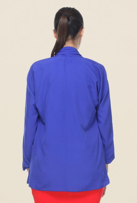 Kaaryah Blue Solid Jacket