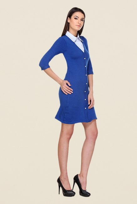 Kaaryah Blue Solid Dress