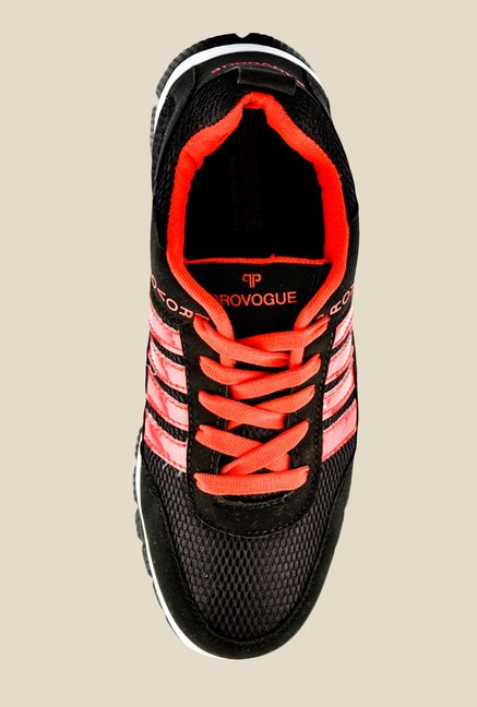 Provogue Black & Red Running Shoes