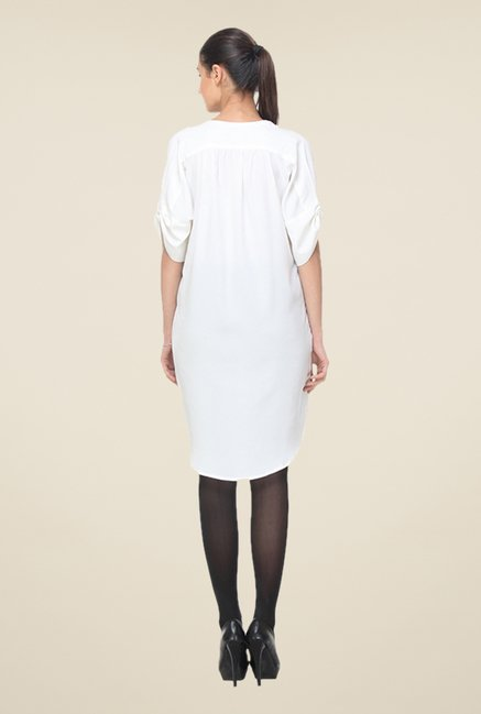 Kaaryah White Solid Tunic