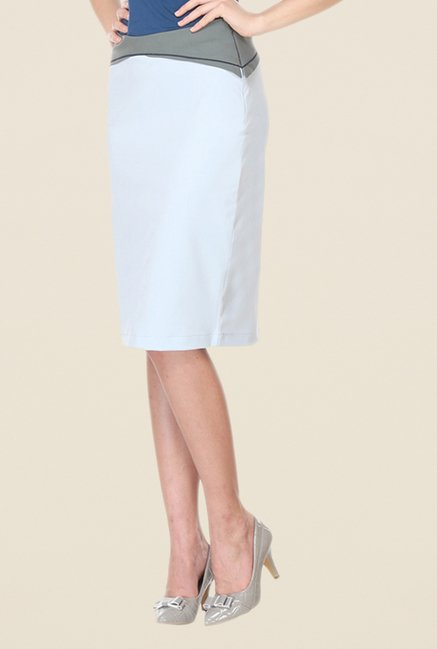 Kaaryah Light Blue Pencil Skirt