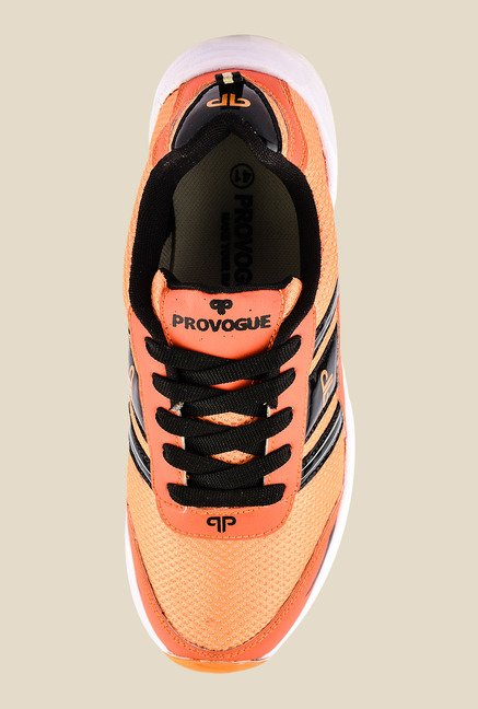 Provogue Orange & Black Running Shoes
