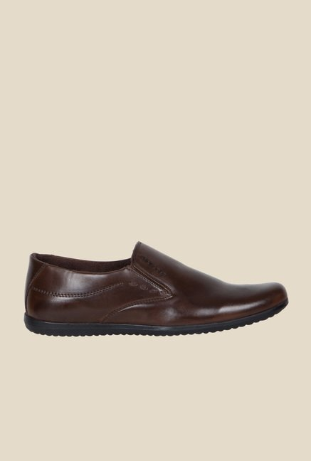 Provogue Brown Formal Slip-Ons