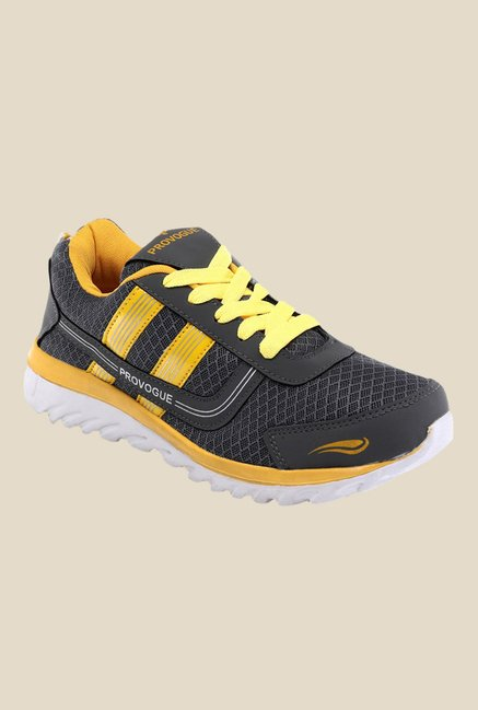 Provogue Grey & Yellow Sneakers