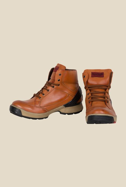 Provogue Tan Biker Boots