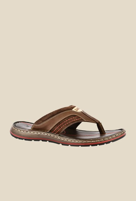Lee Cooper Brown Thong Sandals